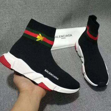 shosouvenir Balenciaga Woman Men Elastic socks shoes