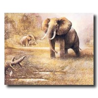 African Elephant Safari Animal Wildlife Wall Picture 16x20 Art Print