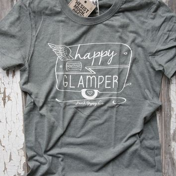 happy glamper unisex tee - green