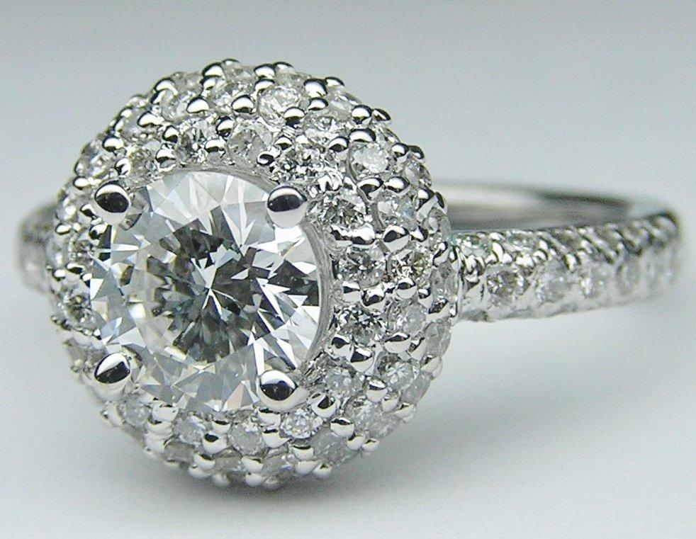 engagement ring halo pave from mdc diamonds vintage