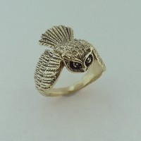 Owl ring by martymagic on Etsy