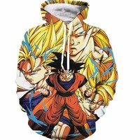 Classic Dragon Ball 2017 Hooded Sweatshirts Men Women Anime Hoodie Sweatshirt Cartoon/Vegeta Print 3D Hoodies Pullovers