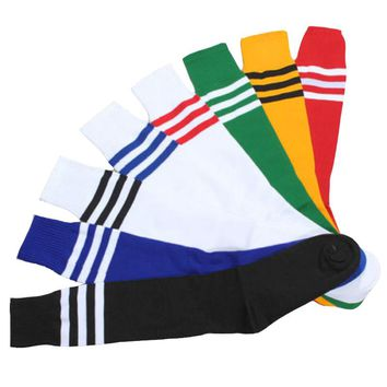 Unisex Fashion Long Socks Floor Women Men 8 Colors Stripe Cheerleader Knee High Sock Sexy Cute Boots Skateboard Socks Girls Boys