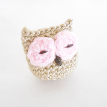 Crochet Catnip Toy - Crochet Catnip Owl for Cats and Kittens - Owl Toy for Cats - Crochet Owl Toy -  Present for Cats - Owl Catnip Toy