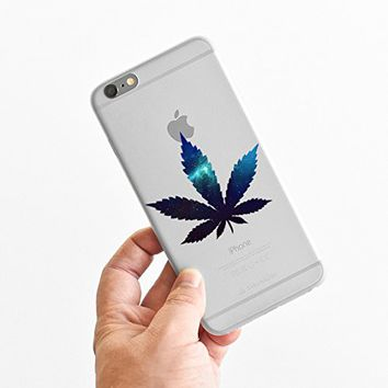 for iPhone 6 Plus - Super Slim Case - Galaxy Weed - Galaxy Marijuana - Hispter - Funny