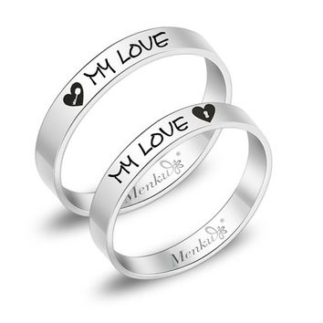 Boy and girl matching promise rings