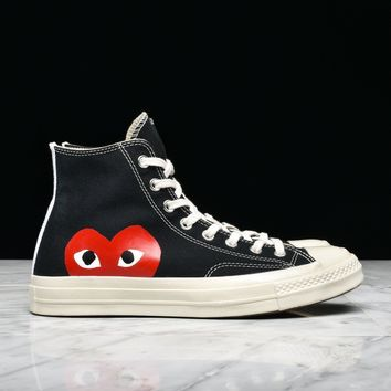 best sale cdg play x converse chuck taylor all star 70 hi black
