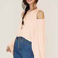 Open-Shoulder Kimono Sleeve Top