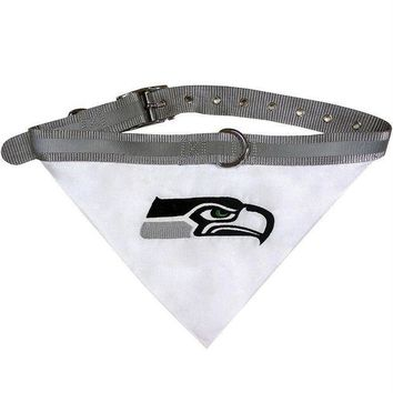 ESB7N7 Seattle Seahawks Dog Collar Bandana