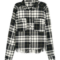 Cropped Flannel Shirt - from H&M