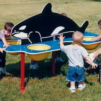 Planet Playgrounds Free Standing Fun Whale Sand and Water Table