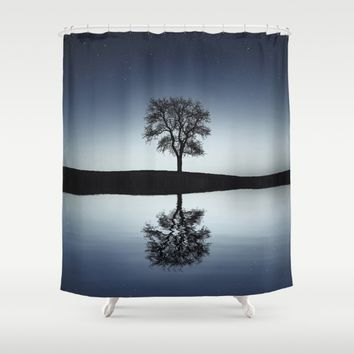 Reflective Individual Shower Curtain by Gallery One