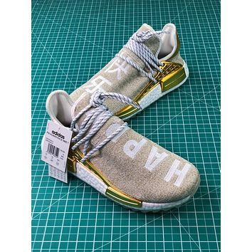 Pharrell Williams X Adidas Originals Hu Nmd Pw Trail China Exclusive Happy Gold F99762 Sport Running Shoes - Sale