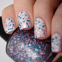 Marie  Full Size Custom Glitter Nail Polish by SpellboundNails