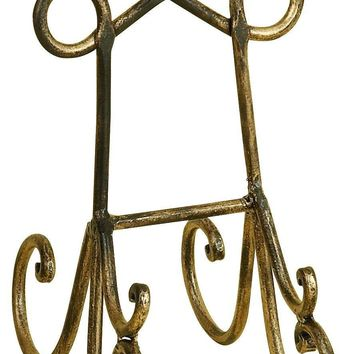 "Benzara 10"" Metal Easels Cook Books Arts Wedding in Gold - Set of 12"