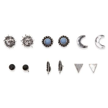 With Love From CA Blue Moon Earring Pack - Womens Jewelry - Silver - NOSZ