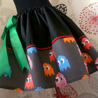 Pac Man, pac man skirt,  Geek Clothes, ALL SIZES, 1980s Retro Clothes, ROoBYS,