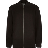River Island Boys black bomber jacket