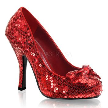 Funtasma No Place Like Home Red Sparkle Pumps