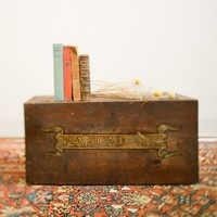 Antique Handpainted Rascal Trunk
