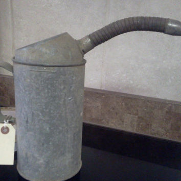 Vintage Galvanized Oil Can