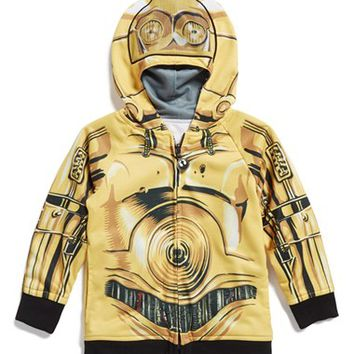 Boy's Jem 'Star Wars - C-3PO/R2-D2' Reversible Hoodie,