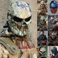 Outdoor Cycling Wargame Tactical Mask Full Face Airsoft Paintball CS Army Mask Horror Mask DRO-0012