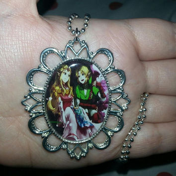 The Legend of Zelda - Link and Princess Zelda - Necklace - Style 2