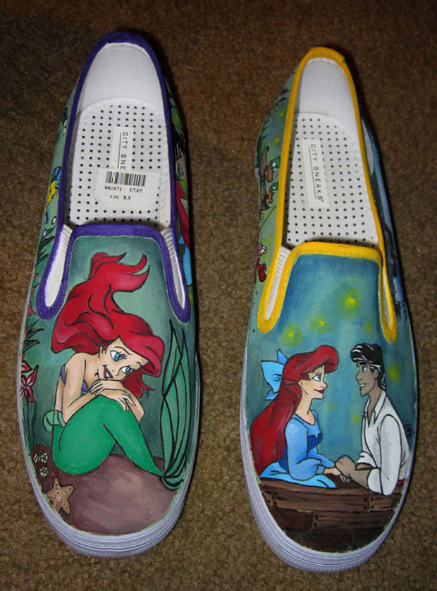 Custom Disney Animation Inspired Adult Shoes with YOUR favorite scenes and characters