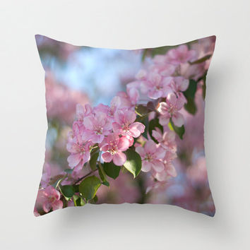 Pink Throw Pillows Spring Pillow Toss Pillows For Sofa Cushion Cover Shabby Chic Home Decor Handmade Decorative Pillow Case 46x46 16x16