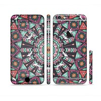 The Mirrored Coral and Colored Vector Aztec Pattern Sectioned Skin Series for the Apple iPhone 6s Plus