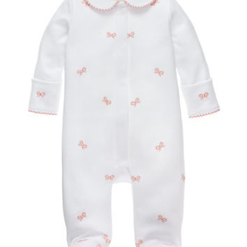 Kate Spade Babies' Schiffli Bow Footie White / Balloon Pink