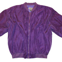 Purple Rain Silk Jacket XL