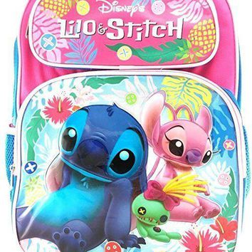 "Disney Lilo and Stitch 16"" Girls Large School Backpack"