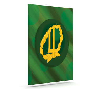 "NL Designs ""Jupiter"" Green Emerald Canvas Art"