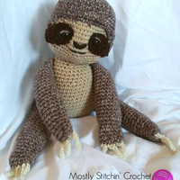 Sammy the Sloth; CROCHET PATTERN; PDF