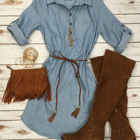 Shifty in Chambray Dress: Light