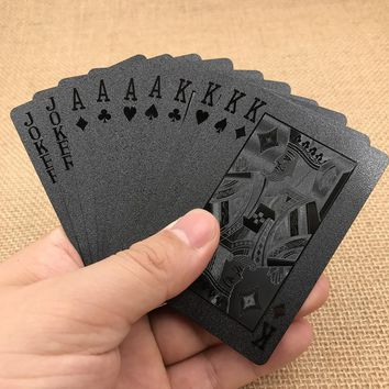 Limited Edition Waterproof Black Plastic Playing Cards Collection Poker Cards Valuable Creative Father's Gift For Friends