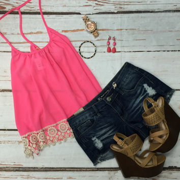 Seaport Top: Pink