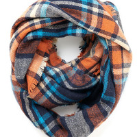 ModCloth Darling, Scholastic Campus Chill Scarf in Orange