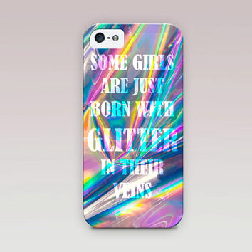 Holographic Printed Quote Phone Case For - iPhone 6 Case - iPhone 5 Case - iPhone 4 Case - Samsung S4 Case