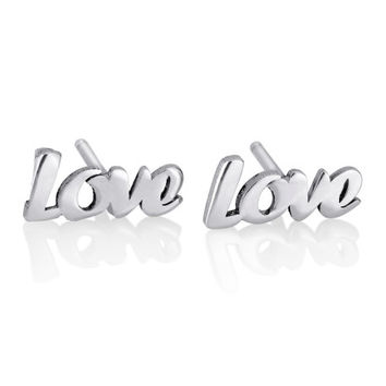 Love earrings - Personalized Earrings, Name Earrings, Personalized Gifts, 925 sterling silver earrings