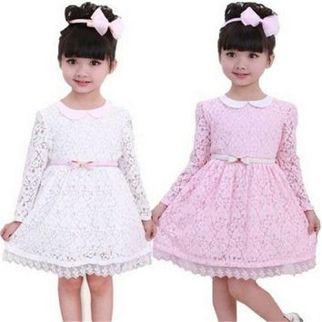 New Year Children Clothing Baby Girls Party Dresses Long Sleeve Dress Girl Kids Clothes Cheap 3 4 5 6 7 8 Year Birthday Outfits