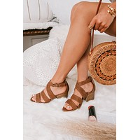 She's A Winner Strappy Heeled Sandals (Cognac)
