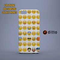 YOUR FAVORITE EMOJIS  Custom Case for iPhone 6 6 Plus iPhone 5 5s 5c GalaxyS 3 4 & 5 and Note 3 4
