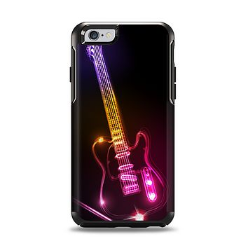 The Neon Light Guitar Apple iPhone 6 Otterbox Symmetry Case Skin Set