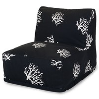 Black Coral Bean Bag Chair Lounger