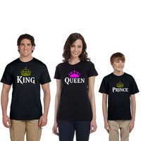 king queen prince tshirts family tshirts king quen prince