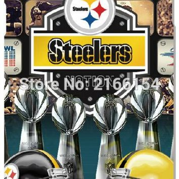 Pittsburgh Steelers Cell Phone Case For Samsung Galaxy Core G360 G350 A3 A5 A7 A8 A9 E5 E7 J1 J3 J5 J7 Prime 2016 Cover Capa