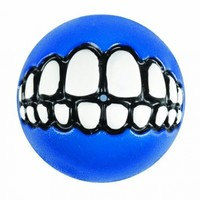 Rogz Grinz Treat Ball Dog Toy, Medium Blue